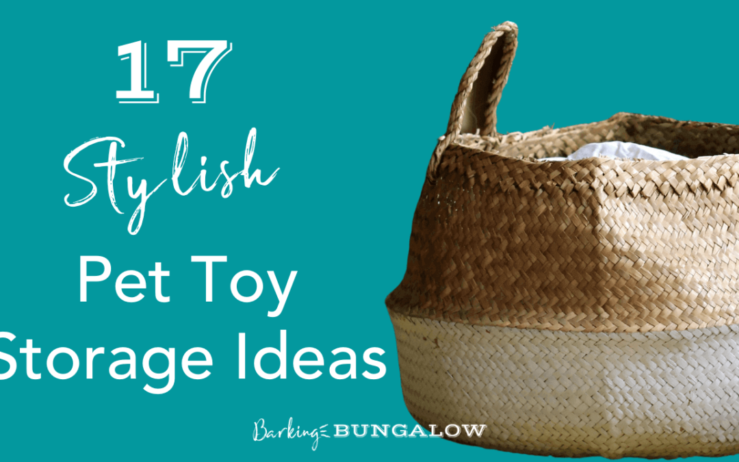 17 Pet Toy Storage Ideas