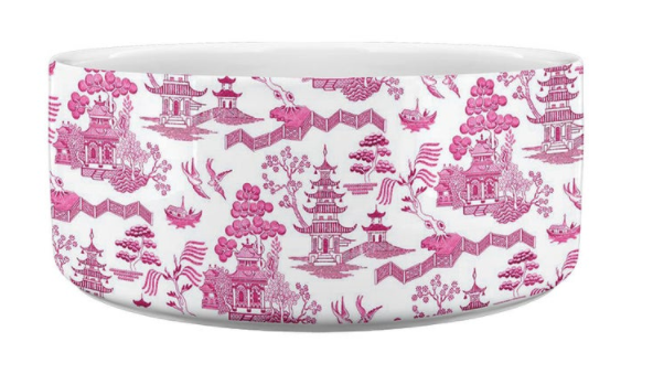 Chinpoiserie Dog Bowl